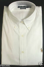 RALPH LAUREN MENS POLO WHITE LONG SLEEVED CLASSIC-FIT SHIRT 16-18, 32-37 NWT