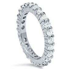 1.50 cttw Round Diamond Eternity Band 14 Karat White Gold Stackable Wedding Ring