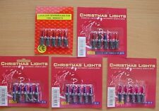 5 Push In Spare Bulbs for Fairy Lights 2.5v 0.35w 0.14a