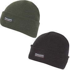 JACK PYKE THINSULATE BOB HAT  very warm quality lined beanie black & olive green