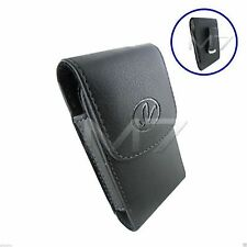 BLACK PREMIUM LEATHER POUCH CASE for SANYO & ERICSSON PHONES COVER w/ BELT CLIP