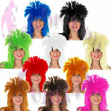 GLAM ROCK 70s 80s TINA TURNER HEAVY METAL STYLE WIG FANCY DRESS