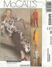 McCall's 4655 M/MP PETITE UNLINED JACKETS, DRESS, DUSTER AND PANTS