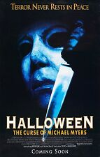 HALLOWEEN 6 The Curse of Michael Myers Movie Poster Horror