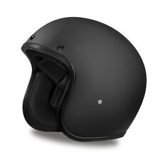 Daytona Cruiser 3/4 Open Face Helmet Dull Black Flat Black - ALL SIZES SHIP FREE