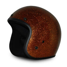 Daytona Cruiser 3/4 Open Face Helmet Rootbeer Metal Flake - ALL SIZES SHIP FREE!