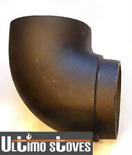 Solid Cast Iron 90° Angle Elbow Bend For Wood Stove Flue Pipe - FREE P+P!