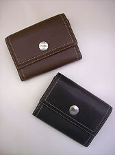 COACH HAMPTONS Leather Compact Clutch Wallet for Bag Purse Black or Brown NWT