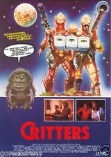 CRITTERS Movie Poster Sci Fi Horror 80's Aliens Dee Wallace rare