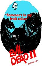 EVIL DEAD II Movie Poster Horror Ash Cult Classic Bruce Campbell