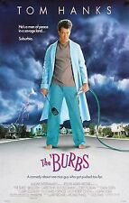 THE BURBS Movie Poster Tom Hanks Horror Comedy Cult Classic