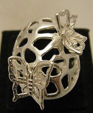 STERLING SILVER RING SOLID 925 BUTTERFLY NEW SIZE J - V EMPRESS