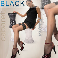 "Fishnet Black Stay ups / Hold ups ""Marie"" silicone lace top"