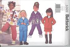 Butterick 3269 Girls' Top, Skirt and Pants 2, 3, 4, 5  Sewing Pattern