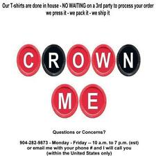 T-shirt - Your Name in -- CHECKERS, crown me board game - personalized