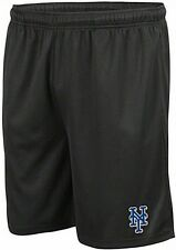 New York Mets MLB Majestic Crossbar Synthetic Black Shorts Big & Tall Sizes