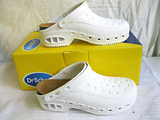 SCHOLL LADIES WHITE SLIP ON MULES / CLOGS / PROFFESSIONAL SHOES- WORKTIME