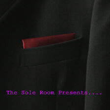 BURGUNDY STRAIGHT POCKET HANDKERCHIEF SUIT JACKETS CROMBIES MOD INDIE SCOOTERS