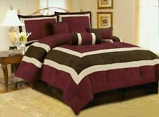 High Quality Micro Suede Comforter Set bedding-in-a-bag, Ash Grey - Black