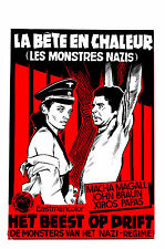 THE BEAST IN HEAT Movie Poster 1977 Exploitation Nazi WWII
