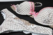 E et D B0001 Ball print balconette up bra set