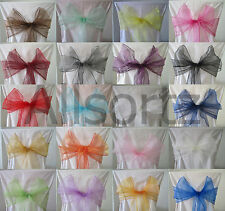 Organza Chair Sashes Bows for Weddings Anniversaries Christenings Parties