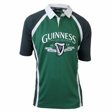 Guinness Rugby Shirt - Green - Embroidered Design, Rubber Buttons - 10052