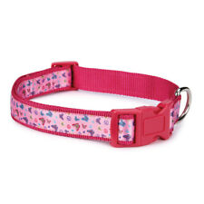 Butterfly Garden East Side Collection Bright & Cheery Pink Dog Collar Brand New