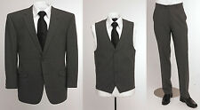 "BNWT Skopes wool blend 3 piece suit in plain Grey, chest 48"" to 52"""