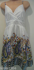 Dorothy Perkins Uttam London Paisly print white Dress (NEW)-size Large-£22.00