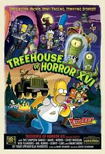 THE SIMPSONS TV Show Poster Treehouse of Horror RARE