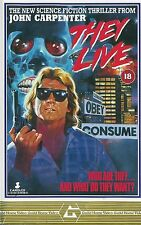 THEY LIVE Movie Poster 1988 John Carpenter Rowdy Roddy Piper