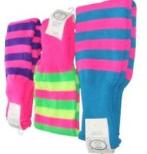 NEON STRIPED LEGWARMERS 80's FANCY DRESS HEN PARTY FUN RUN DANCE NIGHT WALLY FLO