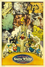SNOW WHITE AND THE SEVEN DWARFS Movie Poster Disney RARE