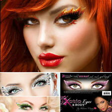 Xotic Eye Reusable Glitter Crystal Makeup Party Rave Art Self Adhesive Eyes Only