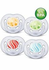 AVENT Contemporary Freeflow Orthodontic Silicone Soothers BPA Free