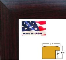 """1"""" Nugget Cherry MaroonSolid Poplar Hardwood Picture  Poster frame-5 inch wide -"""