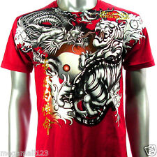 Artful Couture T-Shirt Dragon Tattoo Vtg AD27 Sz M L XL Tiger Graffiti Punk Rock