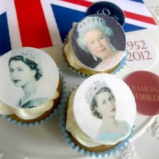 The Queen |  Diamond Jubilee | Rice Paper | Edible Cupcake toppers | Party
