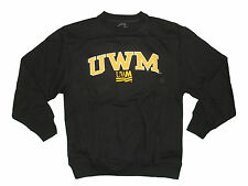 WISCONSIN MILWAUKEE PANTHERS BLACK ADULT EMBROIDERED CREW SWEATSHIRT NEW