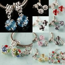 Round Faceted Austrian Crystal Dangle 10mm Ball Charm Beads Finding Fit Bracelet