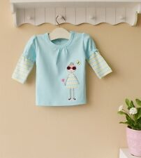 Baby Toddler Long-Sleeved Top T-Shirt Girl Blue~~ Size 1 4 5 6