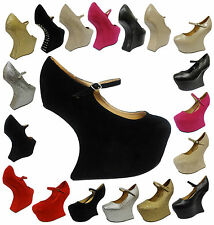 Ladies Heel Less Concealed Platform Suede Spikes Stud Mary Jane Shoes Women Boot