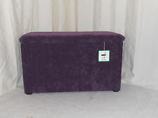 OTTOMAN/BEDDING BOX/TOY BOX - AUBERGINE SOFT CHENILLE