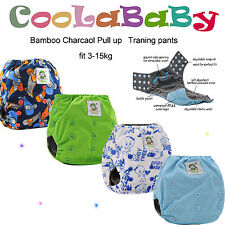One size Bamboo Charcoal Potty Pull up pants Reusable Coolababy +  inserts