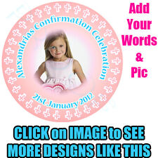Christening Confirmation Communion Edible Photo Image Picture Icing Cake Topper