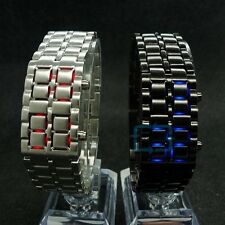 New Iron Samurai Metal Bracelet LAVA Watch LED Digital Watches Hour Men Women UN