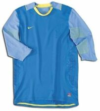 New Mens Sz XL NIKE Confidence 3/4 Sleeve BLUE Soccer GK Goalkeeper Shirt Jersey