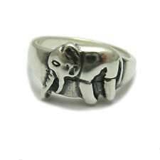 STERLING SILVER RING ELEPHANT SIZE H - T NEW 925 SOLID