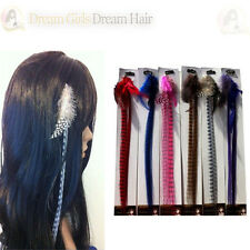 Beautiful Grizzly Feather Clip in Clip on Hair Extensions 6 Colours